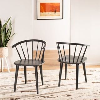 Safavieh Country Classic Dining Blanchard Grey Wood Dining Chairs (Set of 2)