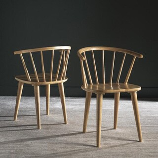 Safavieh Country Classic Dining Blanchard Natural Wood Dining Chairs (Set of 2)
