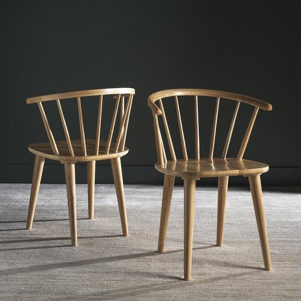 Safavieh country classic dining blanchard natural wood - Natural wood dining chairs ...