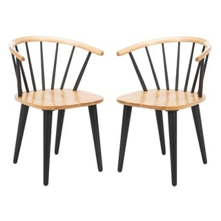 Safavieh Country Classic Dining Blanchard Natural / Grey Dining Chairs (Set of 2)