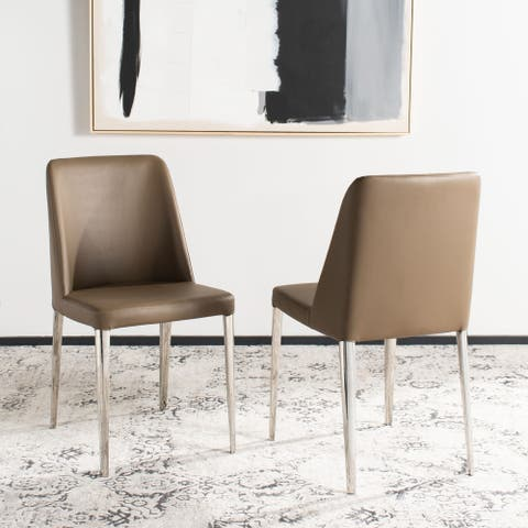 """SAFAVIEH Dining Mid-Century Modern Baltic Taupe Dining Chairs (Set of 2) - 22.5"""" x 17.8"""" x 34.8"""""""