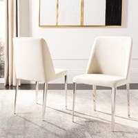 Safavieh Mid Century Dining Baltic Linen Beige Dining Chairs (Set of 2)