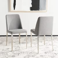 Safavieh Mid Century Dining Baltic Linen Grey Dining Chairs (Set of 2)