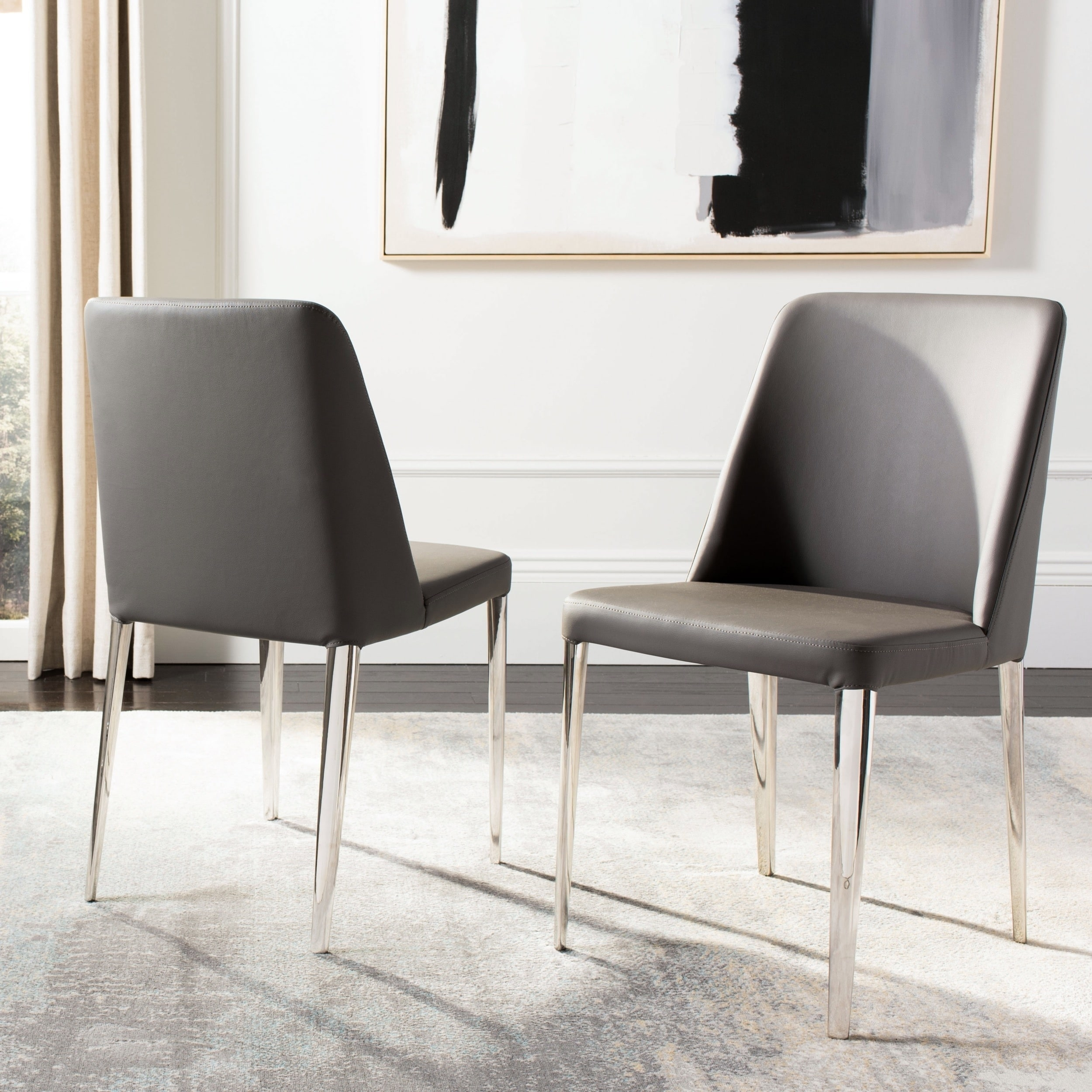 Incredible Safavieh Dining Mid Century Modern Baltic Grey Dining Chairs Set Of 2 Onthecornerstone Fun Painted Chair Ideas Images Onthecornerstoneorg