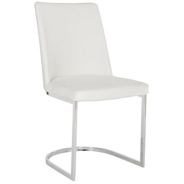 Modern White Chair safavieh mid-century dining parkston modern white dining chairs