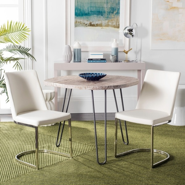 Captivating Safavieh Mid Century Dining Parkston Modern White Dining Chairs (Set Of 2)