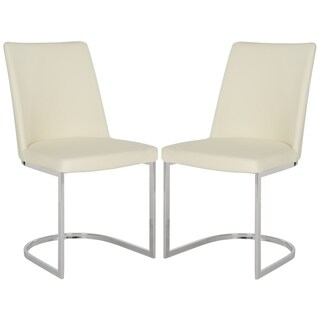 Safavieh Mid-Century Dining Parkston Modern Buttercream Side Chairs (Set of 2)