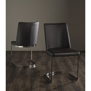 Safavieh Mid-Century Dining Parkston Modern Brown Side Chairs (Set of 2)
