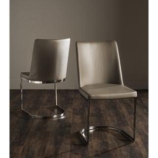 "Safavieh Mid-Century Dining Parkston Modern Taupe Dining Chairs (Set of 2) - 18.5"" x 22.3"" x 33.5"""
