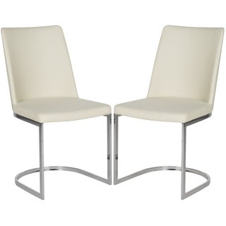 Safavieh Metropolitan Dining Parkston Linen Beige Dining Chairs (Set of 2)