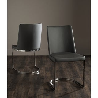 Safavieh Mid-Century Dining Parkston Modern Grey Dining Chairs (Set of 2)