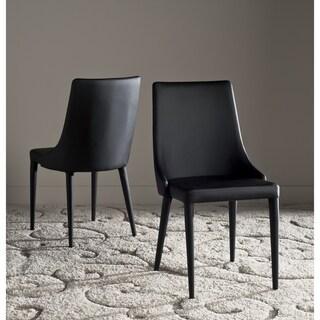 "Safavieh Dining Mid-Century Modern Summerset Black Dining Chairs (Set of 2) - 23.6"" x 19.6"" x 35.5"""