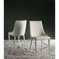 Safavieh Mid-Century Dining Summerset Modern Buttercream Dining Chairs (Set of 2)