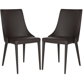 Safavieh Mid-Century Dining Summerset Modern Brown Dining Chairs (Set of 2)