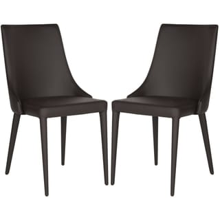 Link to Safavieh Dining Mid-Century Modern Summerset Brown Dining Chairs (Set of 2) Similar Items in Living Room Chairs