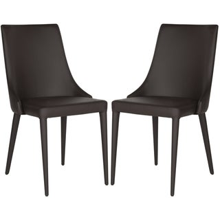 Link to Safavieh Dining Mid-Century Modern Summerset Brown Dining Chairs (Set of 2) Similar Items in Dining Room & Bar Furniture