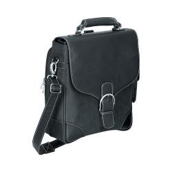 Bellino Advisor Black Leather Laptop Messenger Bag