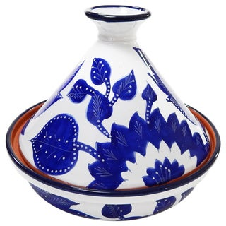 Le Souk Ceramique Jinane Design 12-inch Ceramic Cookable Tagine (Tunisia)