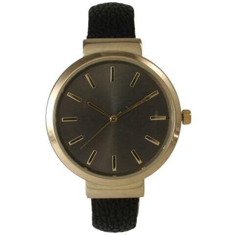 Olivia Pratt Women's Sleek Leather Cuff Watch