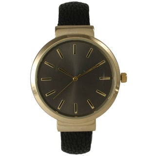 Olivia Pratt Women's Sleek Leather Cuff Watch