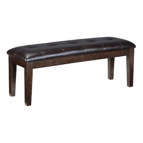 Haddigan Dark Brown Dining Bench