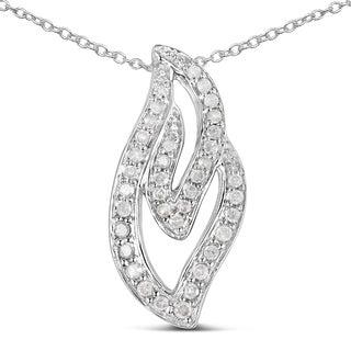 Olivia Leone 14k Goldplated 1/4ct TDW Diamond Cross Pendant (I-J, I2-I3)