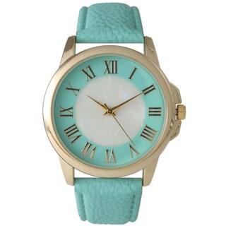 Olivia Pratt Women's Stainless Steel and Leather Quartz Watch