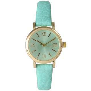 Olivia Pratt Women's Petite Classic Style Fun Leather Strap Watch