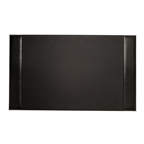 Bey Berk Black Croco Design Leather Desk Pad