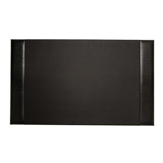 Bey Berk Black Croco Design Leather Desk Pad