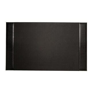 Bey Berk Black Croco Design Leather Desk Pad (Option: Black)