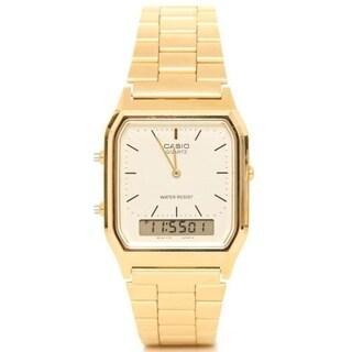 Casio Men's AQ-230GA-9D 'Ana-Digi' Analog-Digital Gold-Tone Stainless Steel Watch