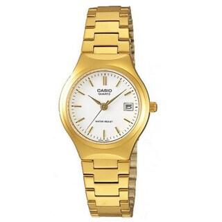 Casio Women's LTP-1170N-7A Classic Round Goldtone Stainless Steel Bracelet Watch