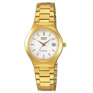 Casio Women's LTP-1170N-7A Classic Round Goldtone Stainless Steel Bracelet Watch