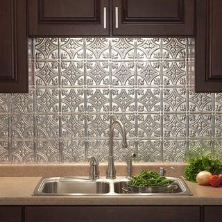 Link to Fasade Traditional Style #1 Brushed Aluminum 15-square Foot Backsplash Kit Similar Items in Tile