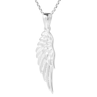 Handmade Enchanting Single Angel Wing .925 Sterling Silver Necklace (Thailand)