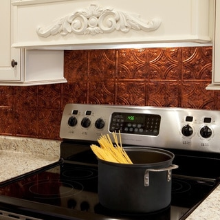Fasade Traditional Style #1 Moonstone Copper Backsplash Kit