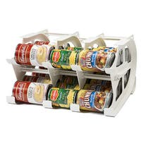FIFO White 30-can Mini Food Storage Can Tracker