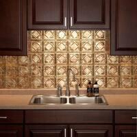 Fasade Traditional Style #4 Bermuda Bronze Backsplash Panel