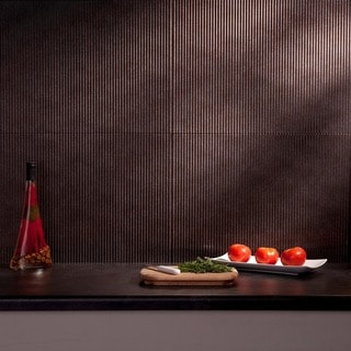 Fasade Rib Smoked Pewter 18x24 Backsplash Panel