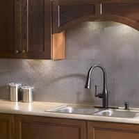 Fasade Rib Galvanized Steel 18x24 Backsplash Panel