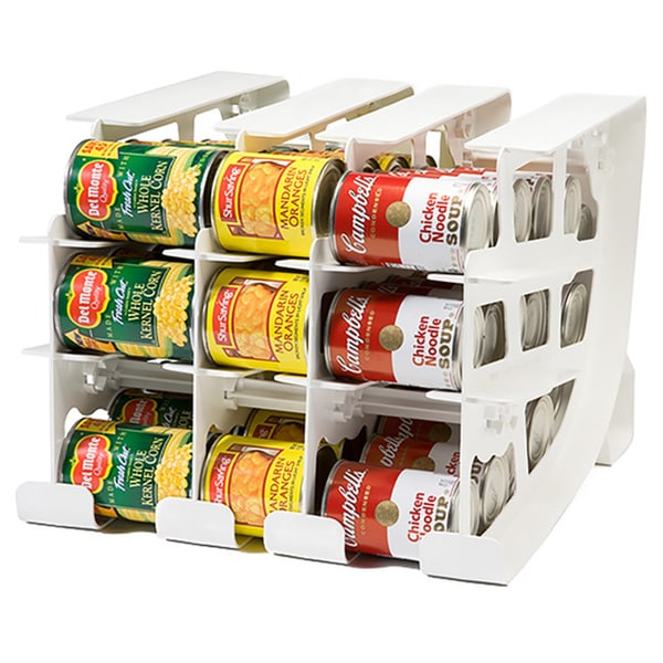 FIFO White 54-can Food Storage Can Tracker