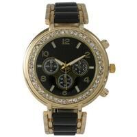 Olivia Pratt Women's Rhinestone Bezel Decorative Chronograph Watch