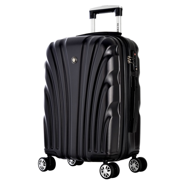 Olympia Vortex 24-inch Mid-size Hardside Spinner Upright Suitcase