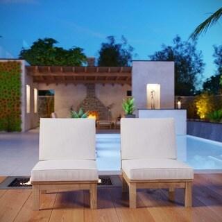 Quay 2 Piece Outdoor Patio Teak Sofa Set