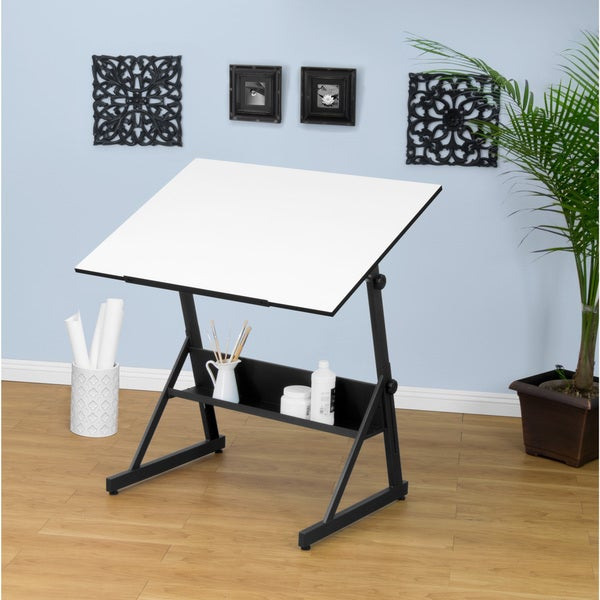 Shop Studio Designs Solano Adjustable Drafting And Hobby Craft Table