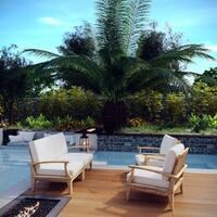 Quay 4 Piece Outdoor Patio Teak Sofa Set