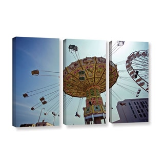 ArtWall Lindsey Janich 'Carnival' 3 Piece Gallery-wrapped Canvas Set