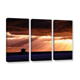 ArtWall Lindsey Janich 'Sunset 1' 3 Piece Gallery-wrapped Canvas Set