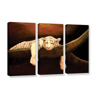 ArtWall Lindsey Janich 'Baby Tiger' 3 Piece Gallery-wrapped Canvas Set